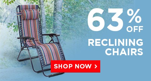 P3: Our bestselling reclining chair - Was £79.99 Now £34.99 – Limited Time Only