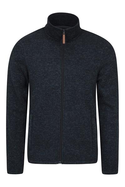 Idris Mens Full Zip Fleece - Grey