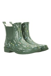 Women's Printed Rubber Ankle Gumboots