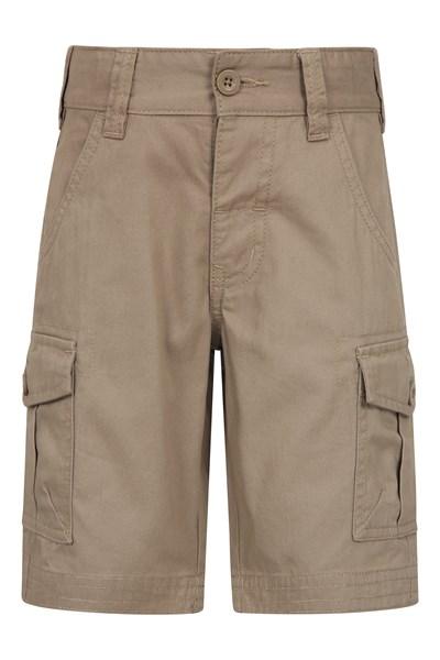 Kids Cargo Shorts - Beige