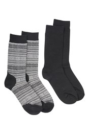 Patterned Merino Socks Multipack