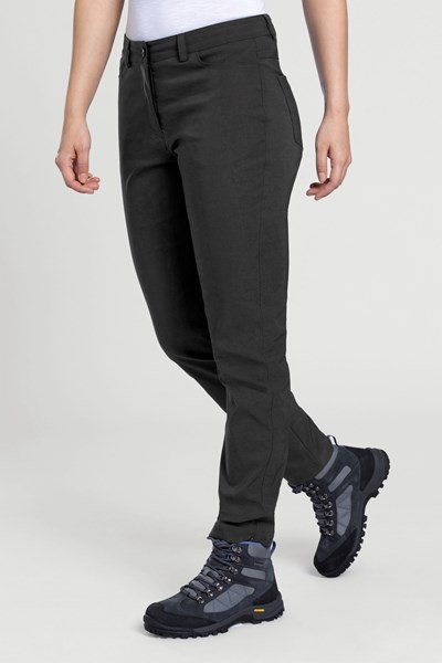 Stride Ultra-Light Slimline Womens Trousers - Short Length - Black