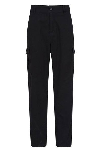 Lakeside Mens Cargo Trousers - Black