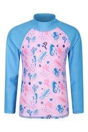 Long Sleeved Printed Kids Rash Vest