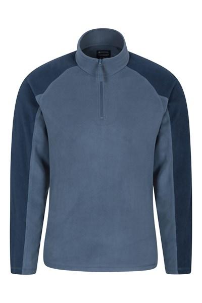Ashbourne Mens Half-Zip Fleece - Blue