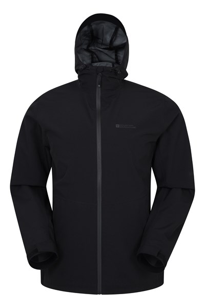 Covert Mens Waterproof Jacket - Black