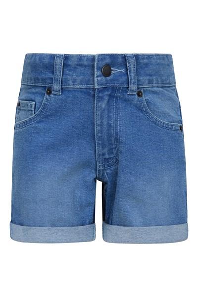 Kids Denim Shorts - Blue