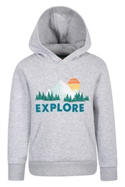 Explore Embroidered Kids Hoodie