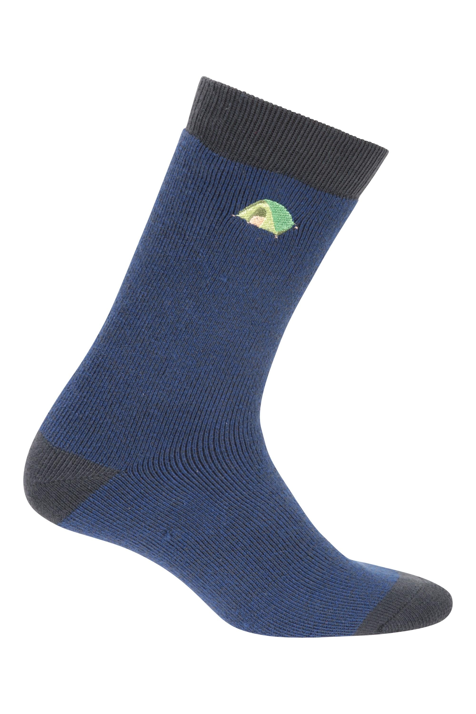 Recycled Yarn Mens Socks - Navy