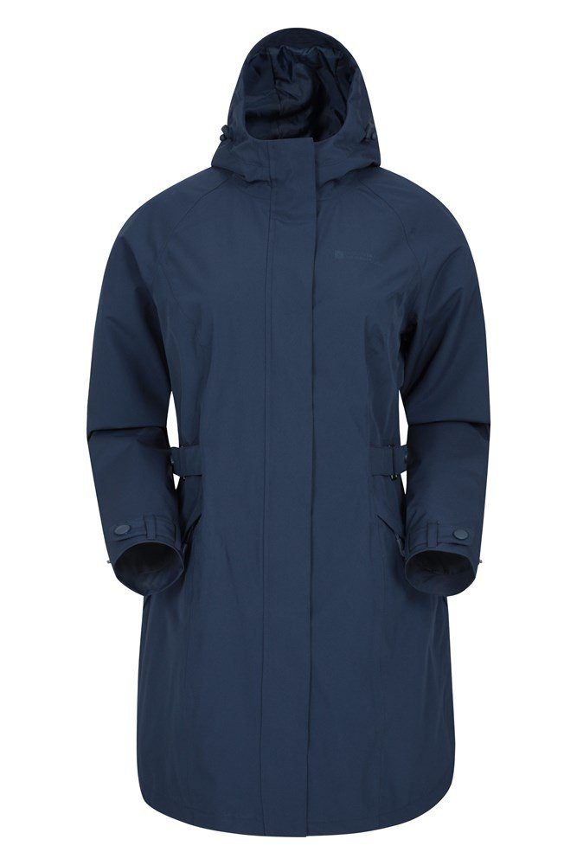 Trench - wodoodporny płaszcz damski - Navy