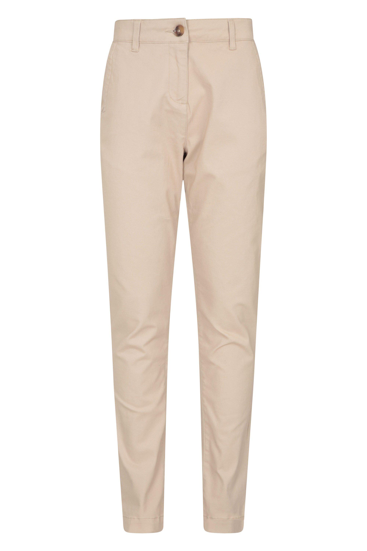 Bay Organic Stretch - spodnie damskie - Beige
