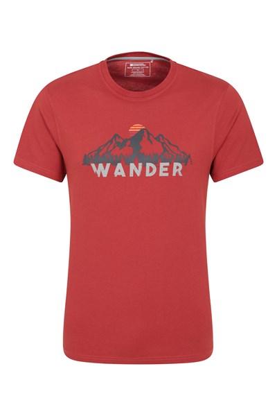 Wander Organic Cotton Mens T-Shirt - Burgundy