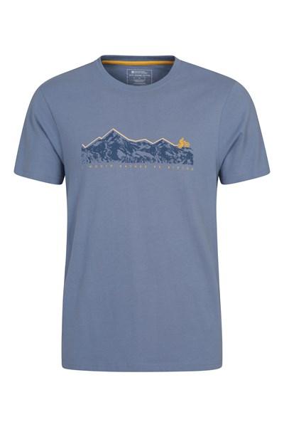 Bike Organic Cotton Mens T-Shirt - Blue