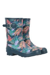 Womens Printed Mid-Height Rubber Rain Boots