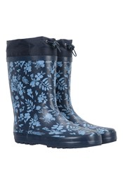 Womens Rubber Rain Boots with Rain Guard