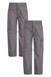 Active Kids Zip-Off Trousers Multipack
