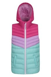 Colour Block Seasons Kids Water-Resistant Padded Gilet