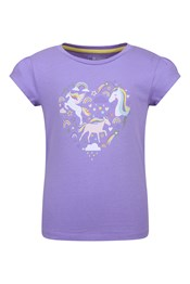 Unicorn Heart Kids Organic Cotton T-Shirt