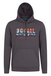 Social Distance Graphic Mens Hoodie
