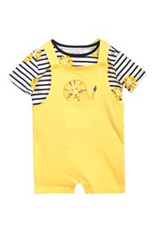 Baby Jersey Dungaree Set