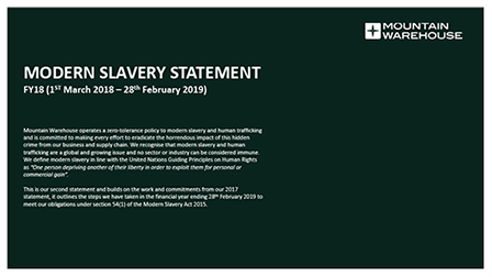 Modern Slavery Statement