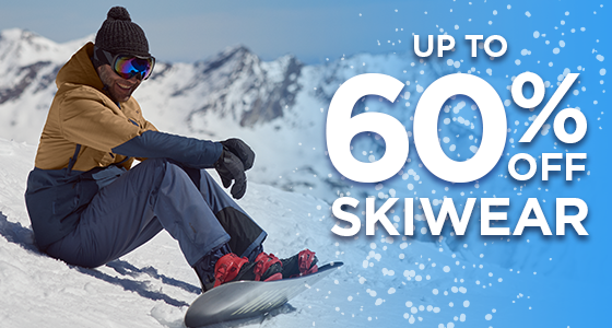 B3: UP TO 60% OFF SKIWEAR