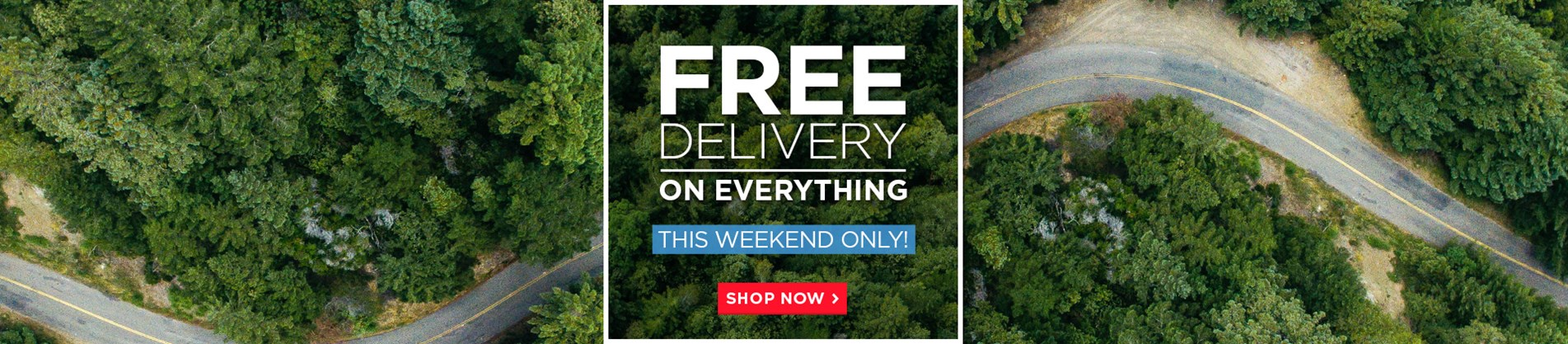 Free Delivery On Everything - This Bank Weekend Only