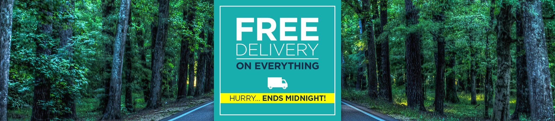 Free Delivery - This Weekend Only