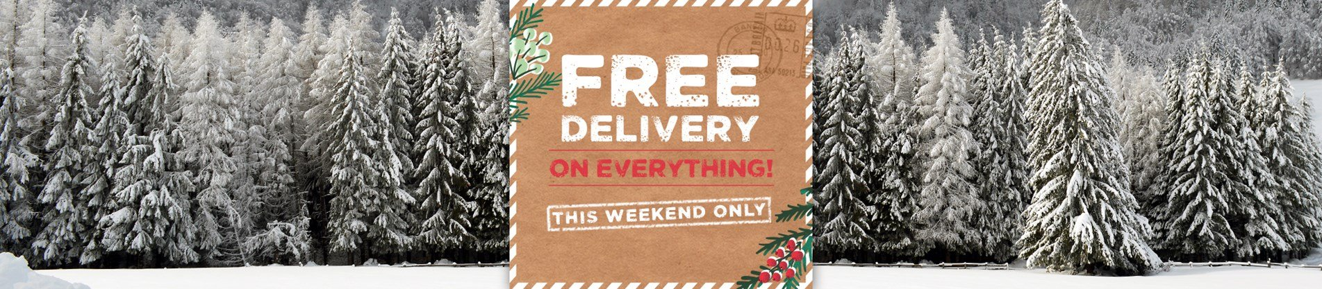Free Delivery On Everything This Weekend Only