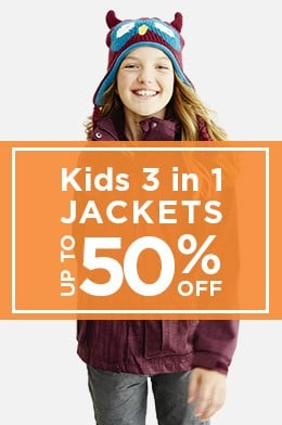 Kids 3 in 1 Jackets Up To 50% Off