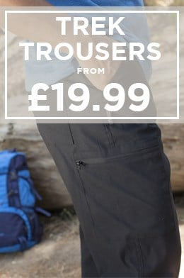 Trek Trousers from £19.99