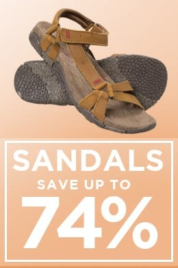 Sandals save up to 74%