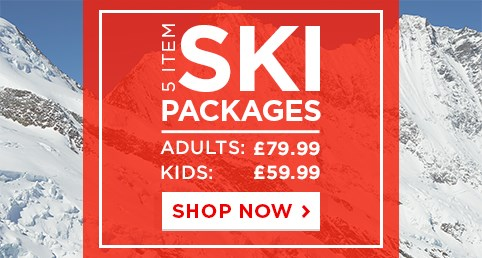 5 Item Ski Packages - £59.99 for Kids | £79.99 for Adults