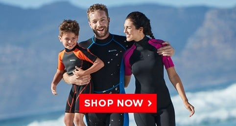 P1: Wetsuits & Rash Vests - Get ready for your water activity