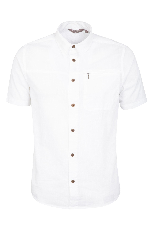 Coconut Short Sleeve Mens Travel Shirt - White