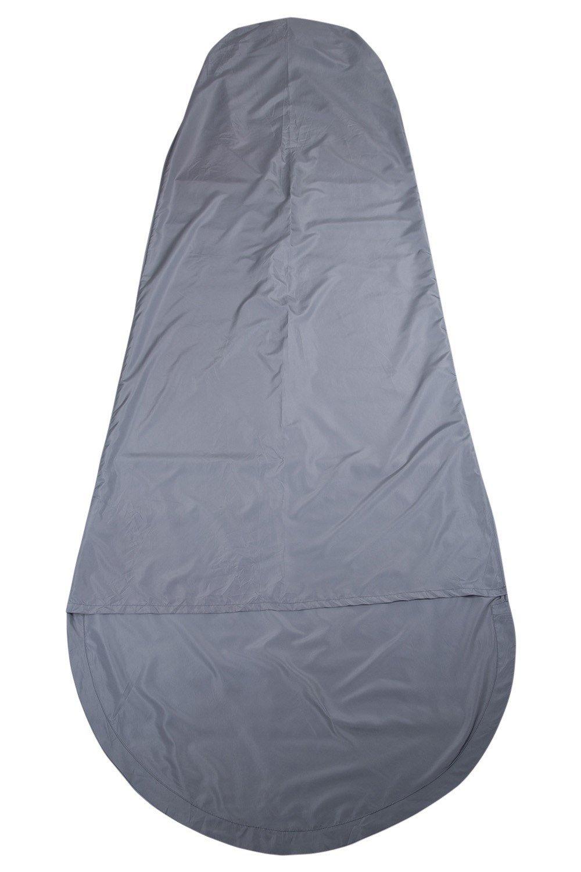 Microfibre Mummy Sleeping Bag Liner - Grey