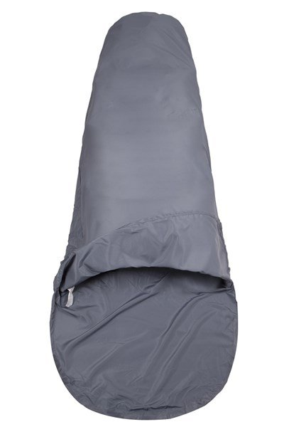 Polycotton Mummy Sleeping Bag Liner - Grey