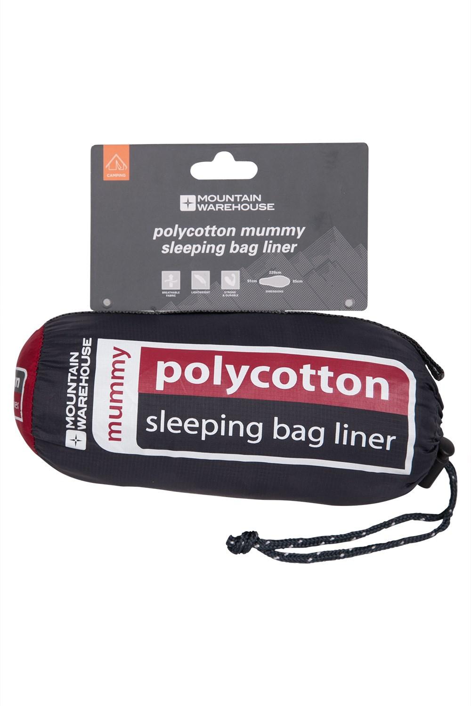 Polycotton Mummy Sleeping Bag Liner - Grey