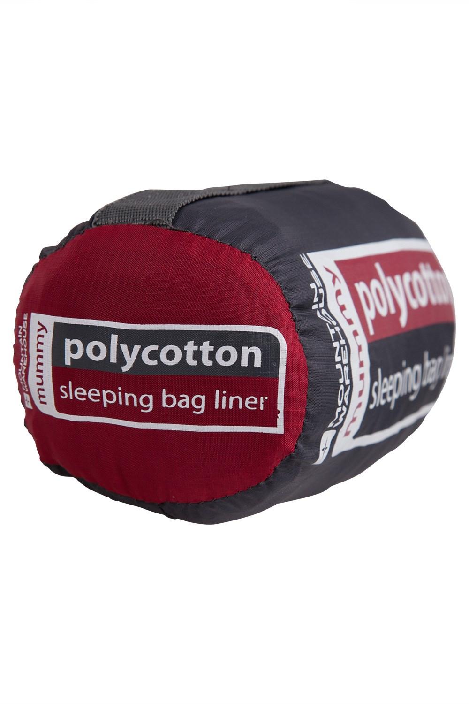 Mountain Warehouse Polycotton Mummy Sleeping Bag in Charcoal Hygienic