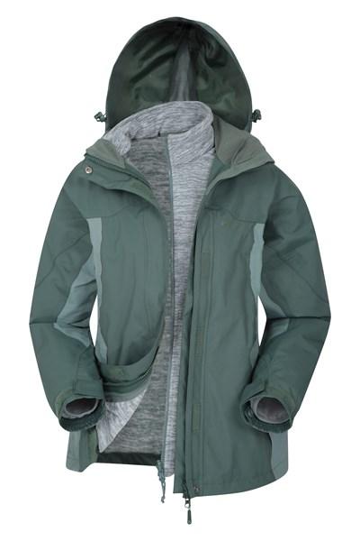 Storm 3 in 1 Womens Waterproof Jacket - Green