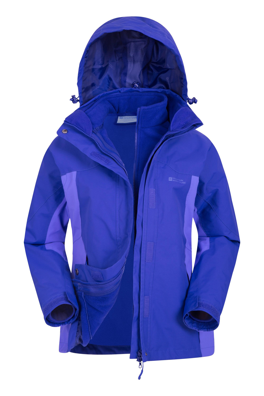 Storm 3 in 1 Womens Waterproof Jacket - Purple
