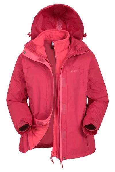 Storm 3 in 1 Womens Waterproof Jacket - Red