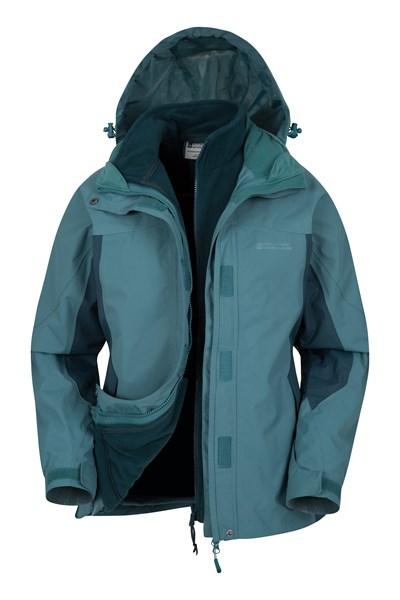 Storm 3 in 1 Womens Waterproof Jacket - Teal
