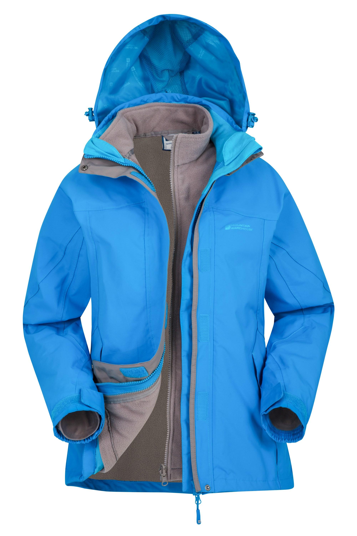 Storm 3 in 1 Womens Waterproof Jacket - Turquoise