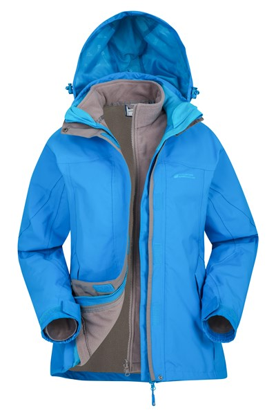 Storm 3 in 1 Womens Waterproof Jacket - Turquoise