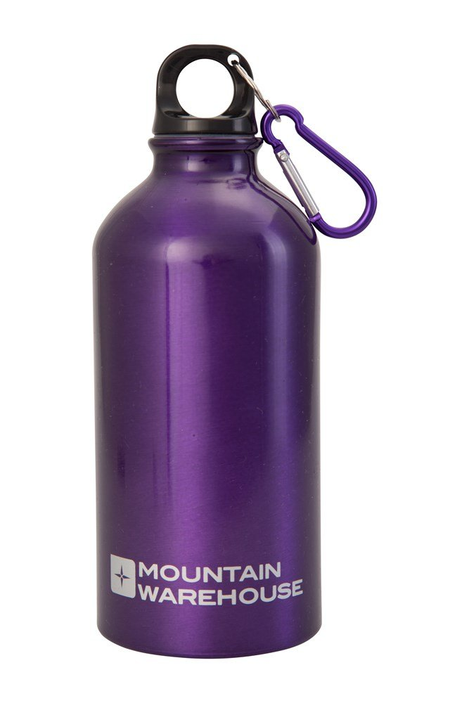 0.5l Metallic Finish Bottle With Karabiner - Purple