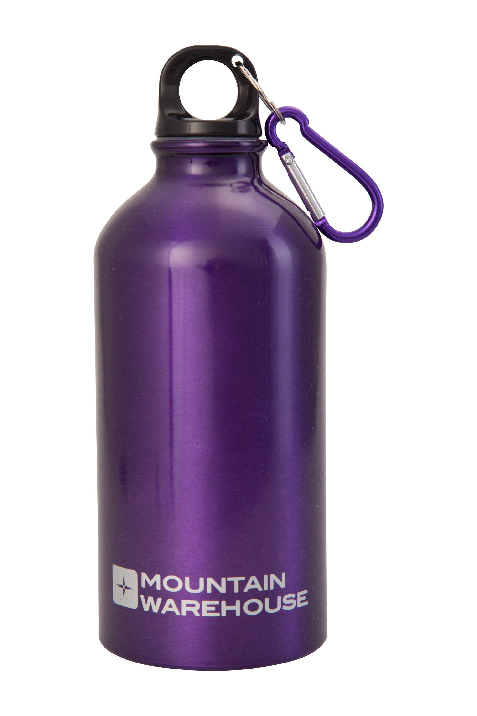 0.5L Metallic Finish Bottle with Karabiner - Purple
