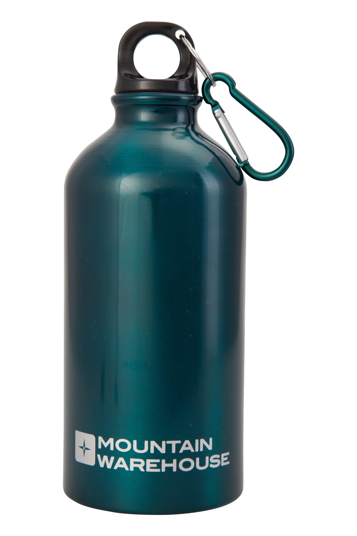 Mountain Warehouse 05L Metallic Finish Bottle with Karabiner Teal
