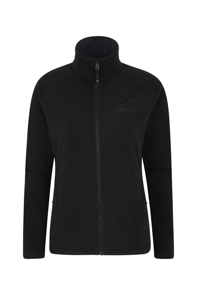 Star Womens Full Zip Fleece - Black