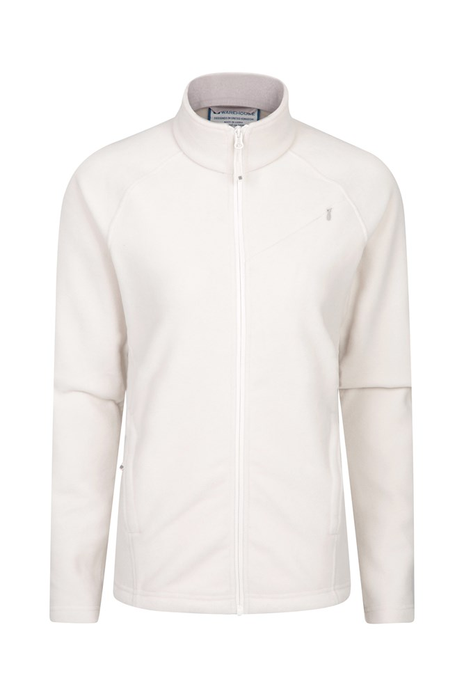 Star Womens Full Zip Fleece - Cream